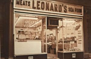 Leonard's meat and seafood market outside view